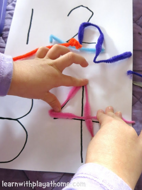 Pipe Cleaner Numbers. Playful Maths!