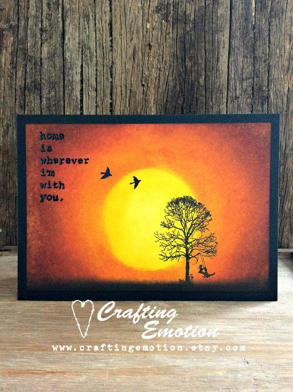 Handmade Greeting card 'Home is wherever I'm with you',  by Crafting Emotion $11.25AUD