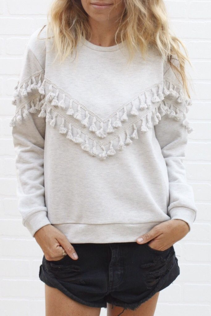 Tassel Sweatshirt | ascot + hart - it's not to show off or prove something, it's to just be, natural state