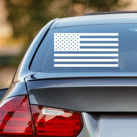 American Flag Decal, US Flag Decal, US American Flag Decal, Patriotic Decal, American Flag Car Decal, Laptop Sticker, Laptop Decal, US Flag by DesignsByTenisha