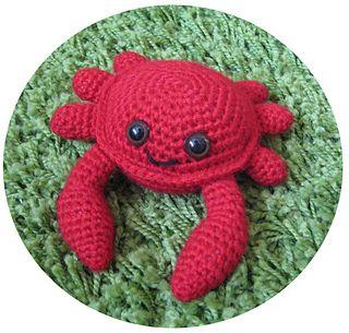 "Crab Amigurumi - Free Pattern - PDF File - Click ""Download"" here: http://www.ravelry.com/patterns/library/amigurumi-crab"