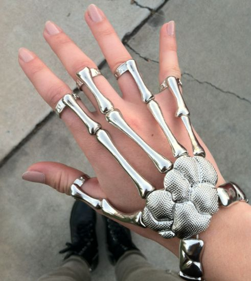 Halloween? Skeleton Full Hand Bracelet, $16.00