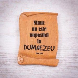 "Tablou din lemn ""Nimic nu este imposibil la Dumnezeu"". #woodenboard"