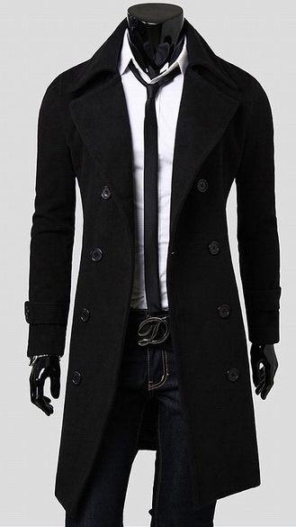 Pánský dlouhý kabát Libero černý