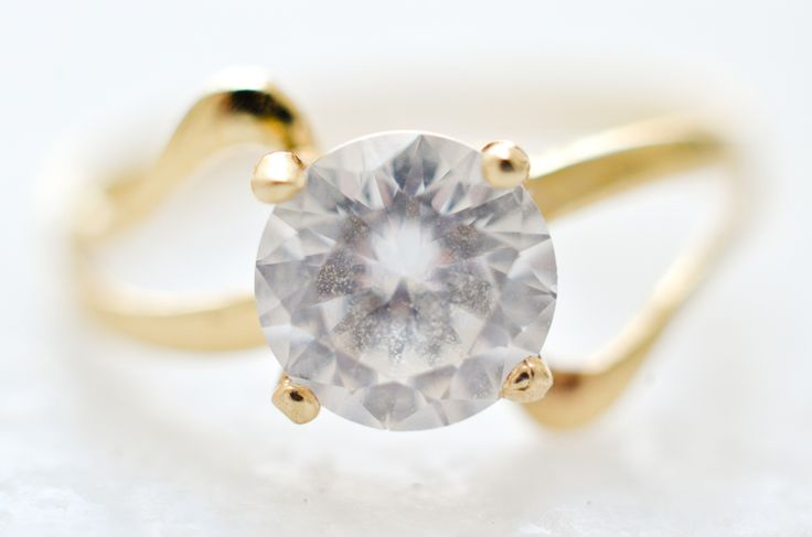Macro shot of engagement ring