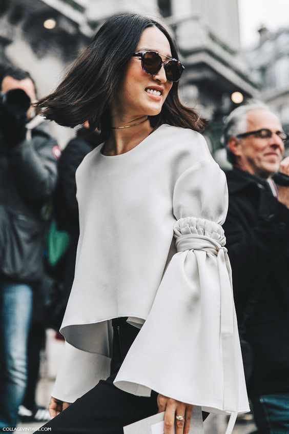 In love with these giant bell sleeves!