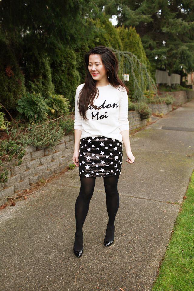 Sequin Star Skirt
