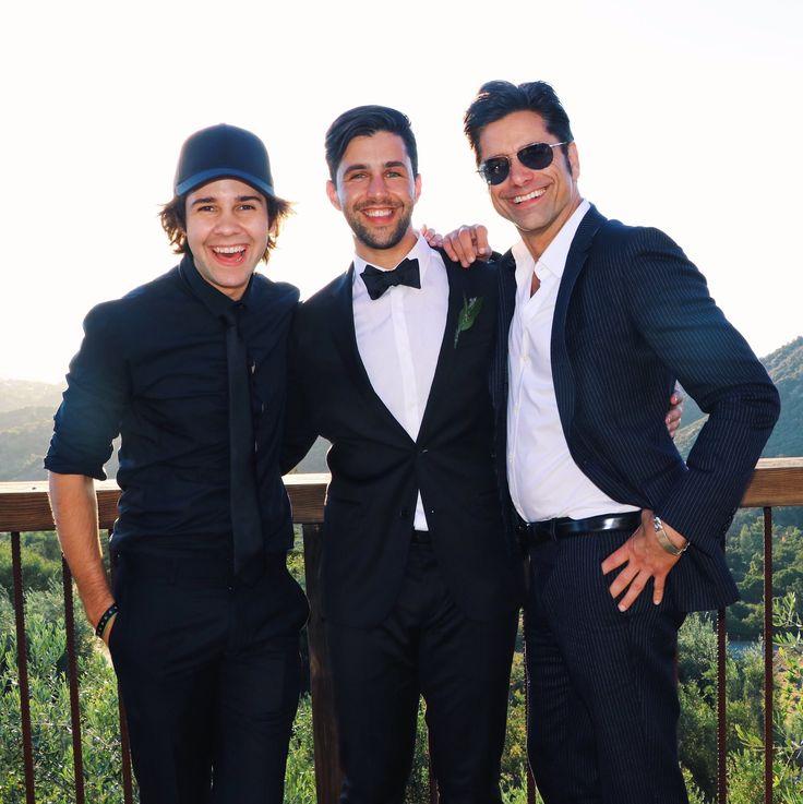 David Dobrik, Josh Peck and John Stamos at Josh Peck's wedding