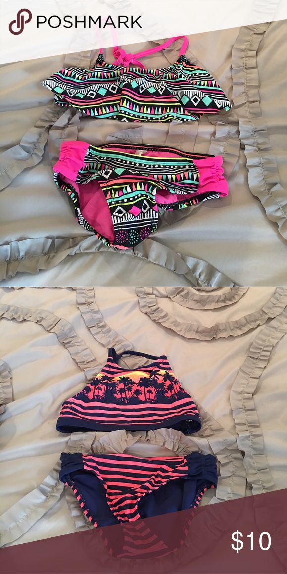 Justice Bathing suits Girls Justice Bathing suits, excellent condition. $ 10 each or $15. For both Justice Swim Bikinis