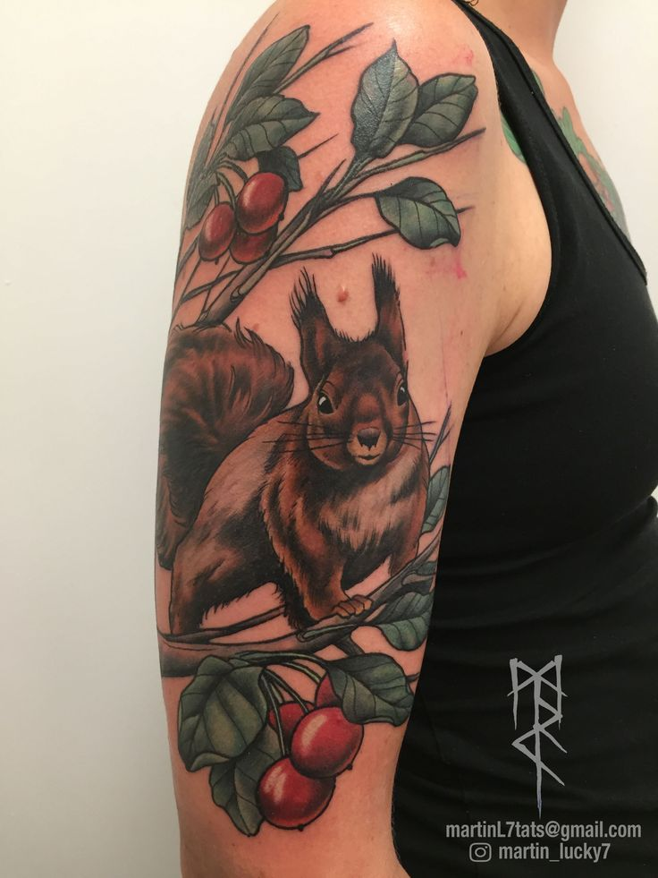 #squirrel #ratatosk #animaltattoo #neotraditional #tattoo #tattoos