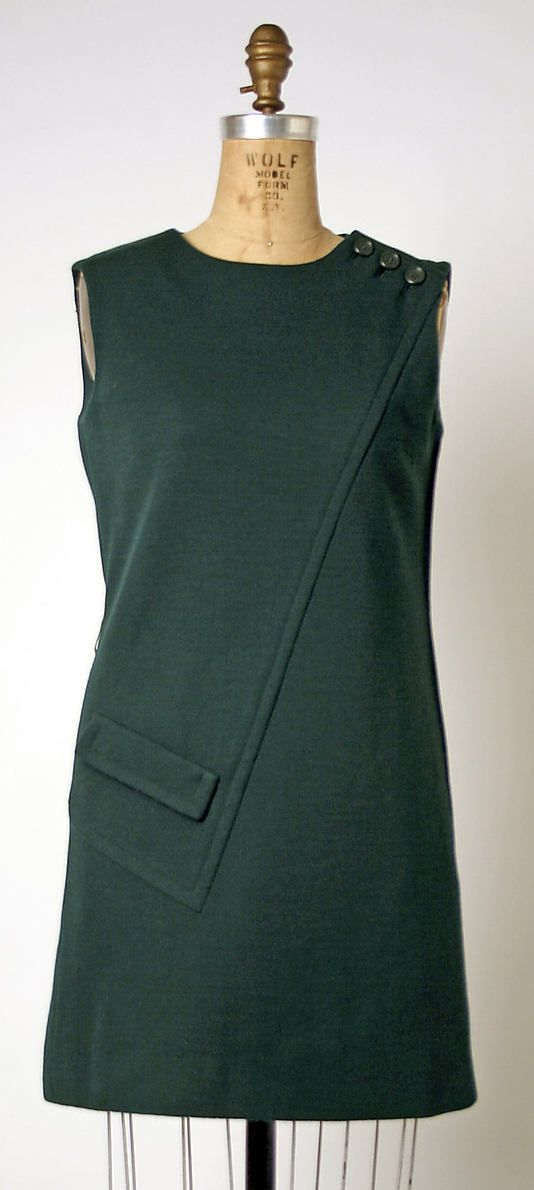 Geoffrey Beene 60's...great lines and pocket detail. Update it to tunic or shell length.