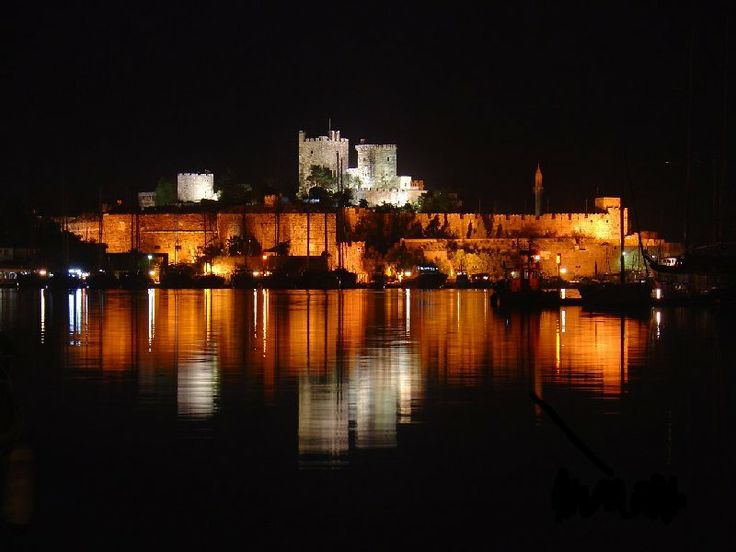 Night Photo of Bodrum Castle