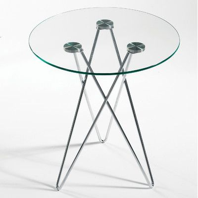Euro Style Zoey End Table Clear Glass/Chrome   End Tables At Coffee Tables  Galore