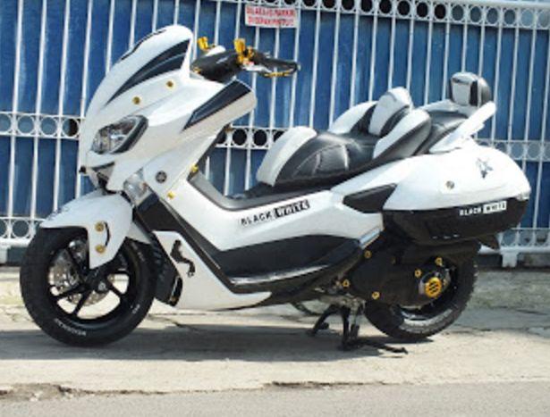Modifikasi Yamaha Nmax Putih Body Kit