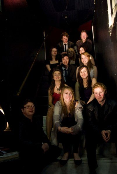 Our first theatre production, The Trojan Women, and our cast and crew at the Kazimier.