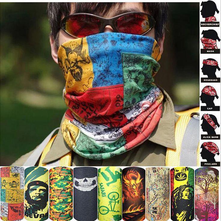 Escalada al aire libre Senderismo Ciclismo Esquí Pesca Protección UV A Prueba de Viento de Camuflaje Bandana Mascarilla Pañuelos Wraps Headwear