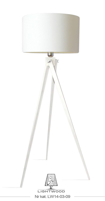 Lampa sztalugowa stojąca LIGHTWOOD biała