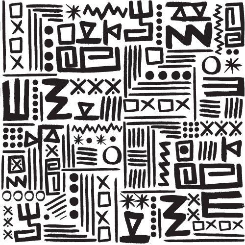 Tribal patterns black & white