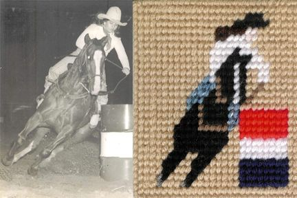 Barrel Racer In Plastic Canvas CRAFTS Pinterest