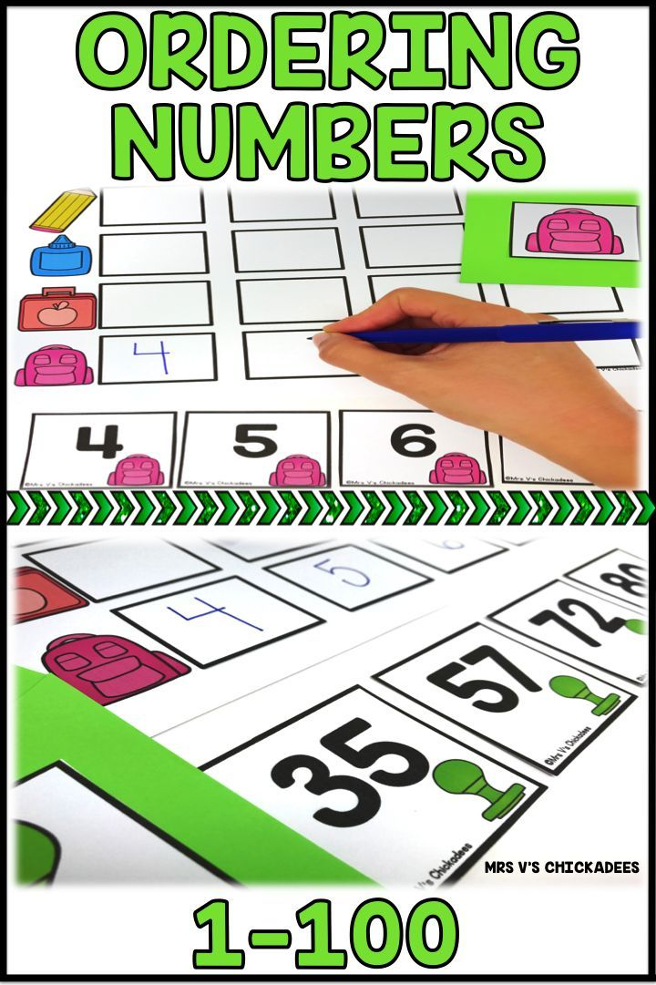 Ordering numbers from least to greatest hands on center. Perfect for math stations and centers. Numbers 1-100 with number cards for consecutive order or non consecutive order. A fun activity to get students engaged with number sequences.