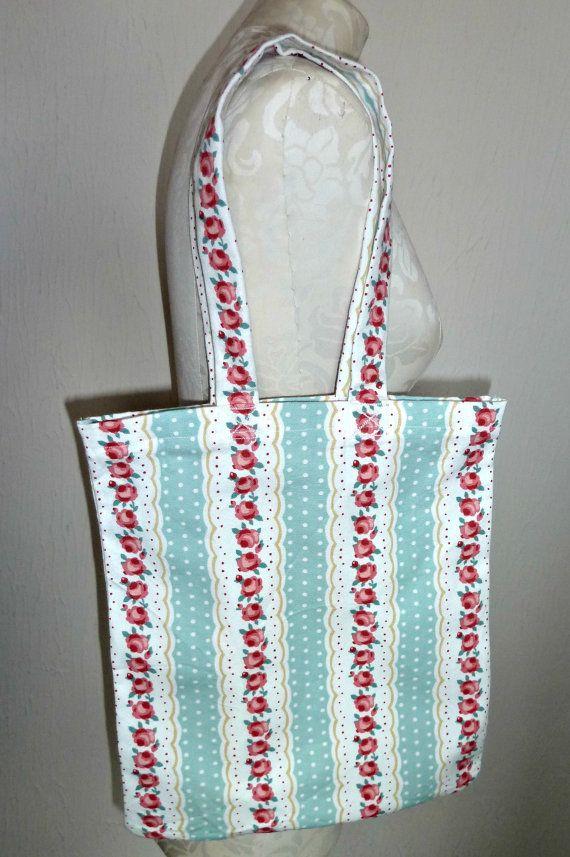 Handmade Shopping Bag roses floral Tote by KelwayCraftsYorkshir, £9.99