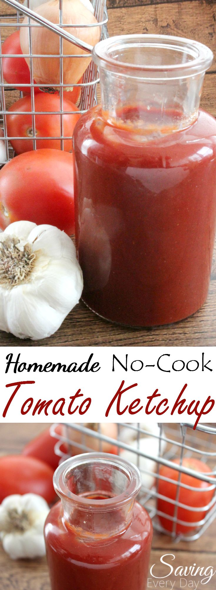 A delicious, all-nature homemade ketchup recipe using ingredients you probably already have in your pantry! http://www.savingeveryday.net/homemade-ketchup-recipe/