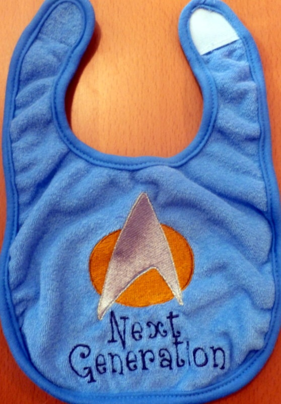 One day I will have a spawn of my own who will wear this and it will be so perfect because they'll be bald like Picard :)
