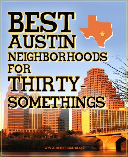 The best Austin neighborhoods for thirty-somethings. Not quite there yet but good to know!