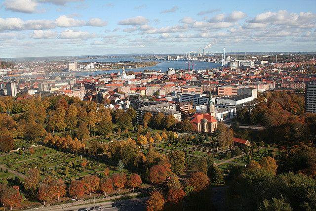 Gorgeous panoramic city view! //Autumn in Aalborg, Denmark