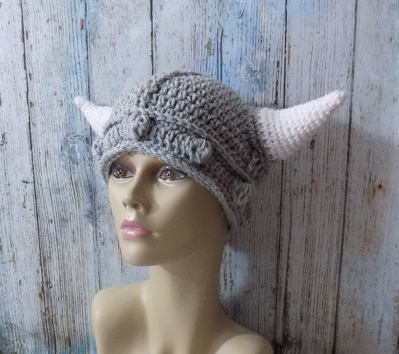 Peuter tot volwassen haak Viking Hat - haak Kids helm - peuter Viking helm - haak Viking Helm - Viking babymutsje - Kids gehaakte hoed