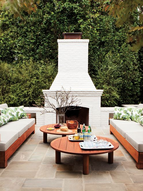 Always wanted a proper outdoor fireplace. This is a simple, elegant design…