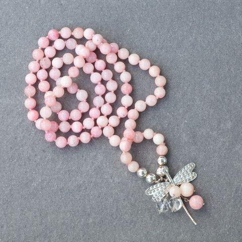 Pink Jade Predator Necklace