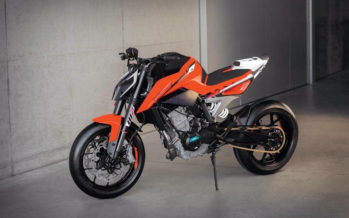 Descargar fondos de pantalla KTM 790 Duque Prototipo de 2017, bicicletas, supebikes, KTM