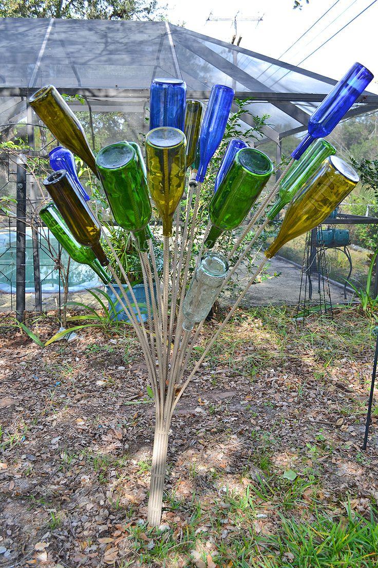 126 best Bottle Trees images on Pinterest | Wine bottle trees ...