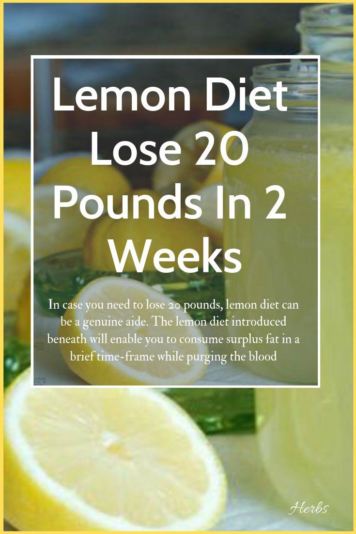 Lemon Diet: Lose 20 Pounds In 2 Weeks