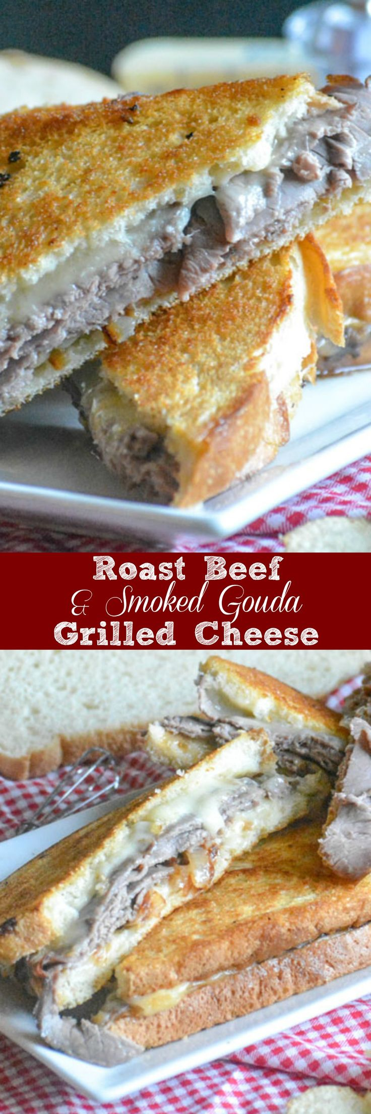 Roast Beef & Smoked Gouda Grilled Cheese | The grilled cheese you grew up with might not be enough to fill you up these days. No worries! This Roast Beef & Smoked Gouda Grilled cheese sandwich is hearty enough for the hungriest men in your life, whether it's lunch or dinner, and so good- that they might not believe you when you tell 'em it's homemade. | 4 Sons 'R' Us