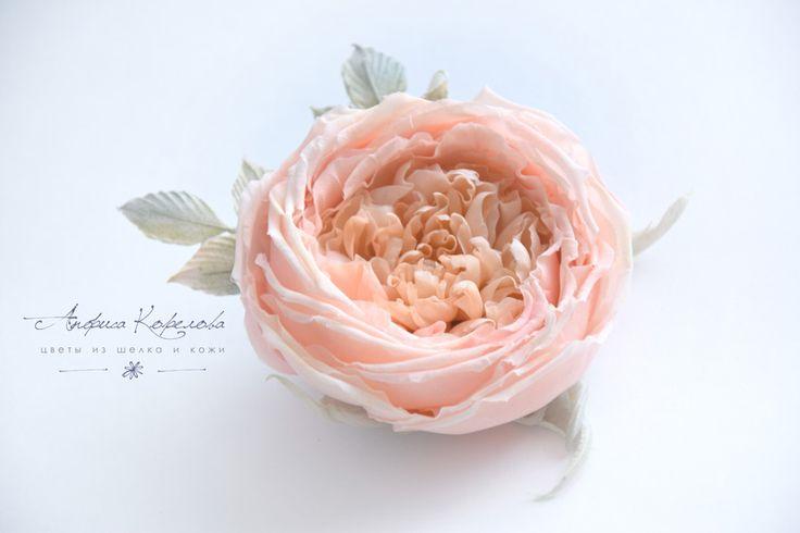 заколка для волос роза остина пастель
