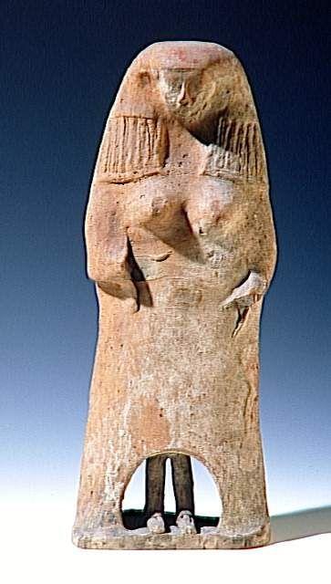 Phoenician goddess figurine, ca. 500 BC. Sidon.