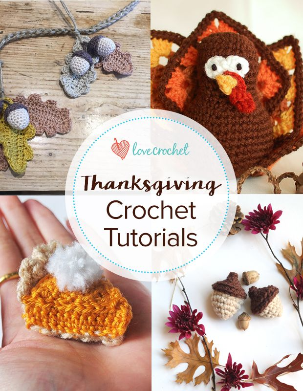 Pinteresting Projects: free Thanksgiving crochet patterns from around the web on LoveCrochet