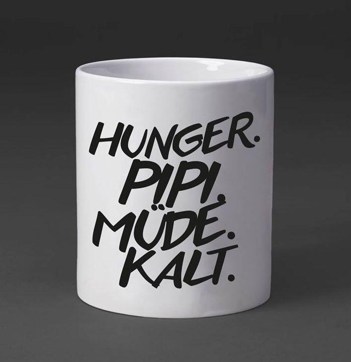 hunger. pipi. müde. kalt Visual statements, Hunger