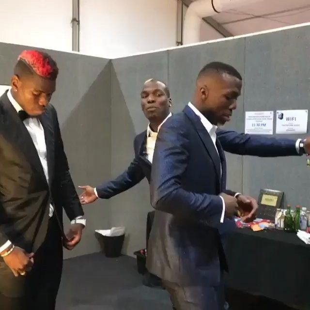 Check out the #Pogba brother's dance moves at the #Mtv awards in London 🎶