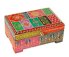 Joyero de Madera con tapa - multicolor