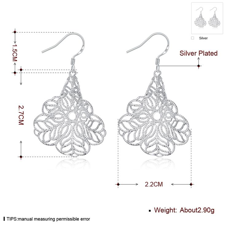 Aliexpress.com : Buy Morning glory plants styles charms Drop earrings 925 stamped silver plated gift box Fashion New Girls Jewelry Brincos de Prata from Reliable jewelry box size suppliers on Rose Fashion Jewelry CO., LTD.