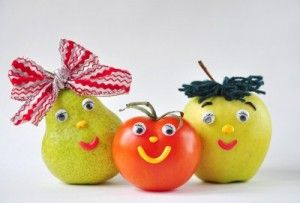 Zelfs het fruit lacht ons al toe!
