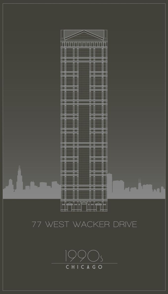 DECADES Chicago Architecture Posters by Stephen