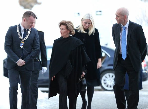 Queen Sonja of Norway opened the Norwegian Olympic Museum in Lillehammer, Norway on February 11, 2016. Crown princess Mette-Marit attend the opening of Norwegian Olympic Museum.