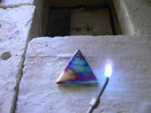 Copper Matte Raku Using Copper Carbonate and Torch - YouTube