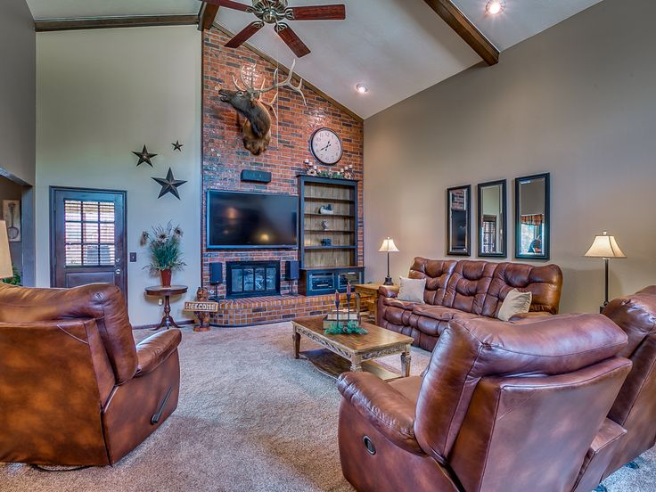 Soaring tall ceilings.  Opens up any space. 7318 NW 106th ST, Oklahoma City, OK | England Real Estate Group |