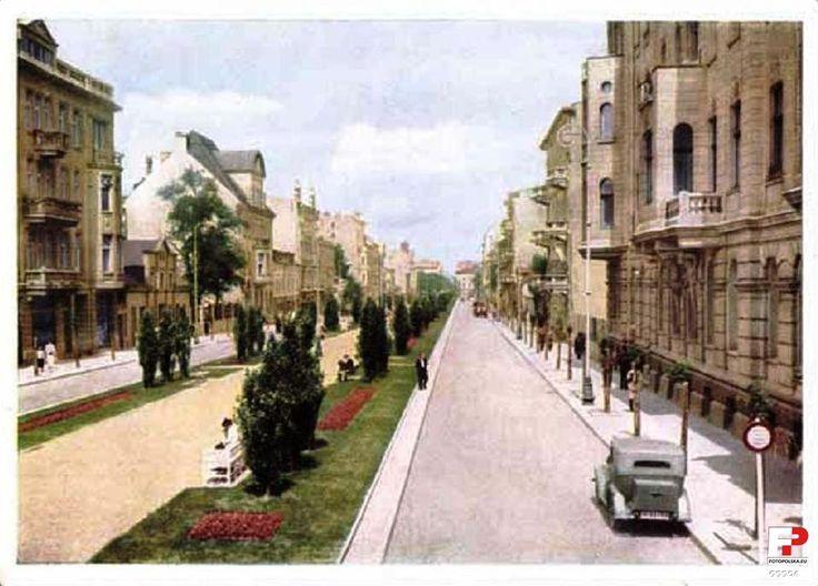 al. Kościuszki Tadeusza (Spacerowa (na północ od ul. Struga), Nowospacerowa (na południe od ul. Struga), Hermann-Göring-Strasse), Łódź - 1940 rok, stare zdjęcia