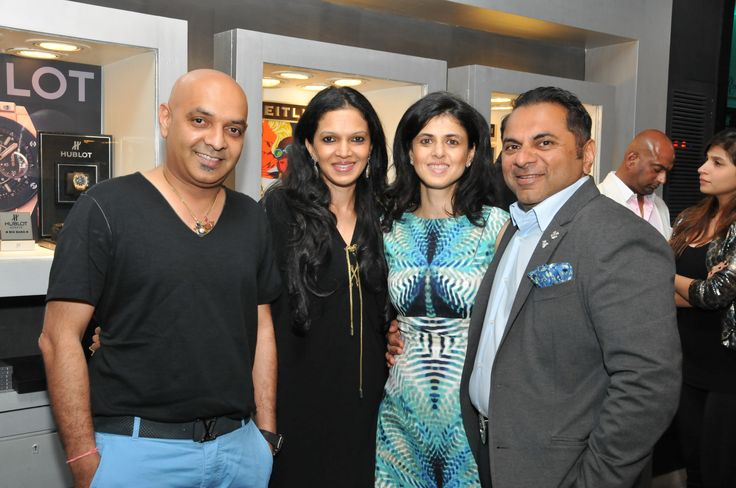 Mrs Sheetal, Brand Abassador, Rose & Biren Vaidya,MD, The Rose Group Of Companies with guest at Rose-The Watch Bar